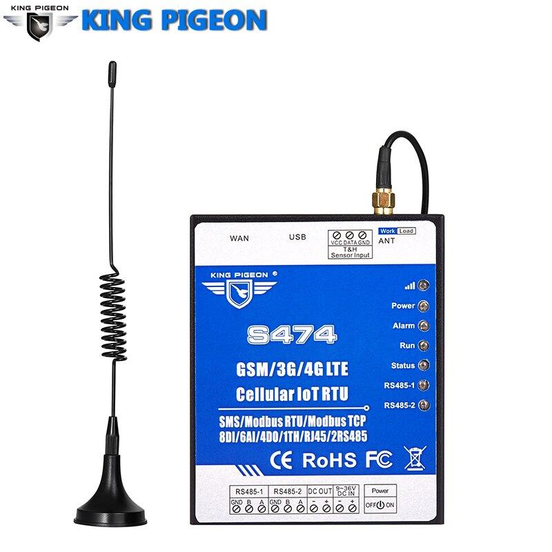 La passerelle tcp-modbus RTU GSM Modbus prend en charge la double carte SIM RS485 série au convertisseur RJ45 résolution 24 bits S474