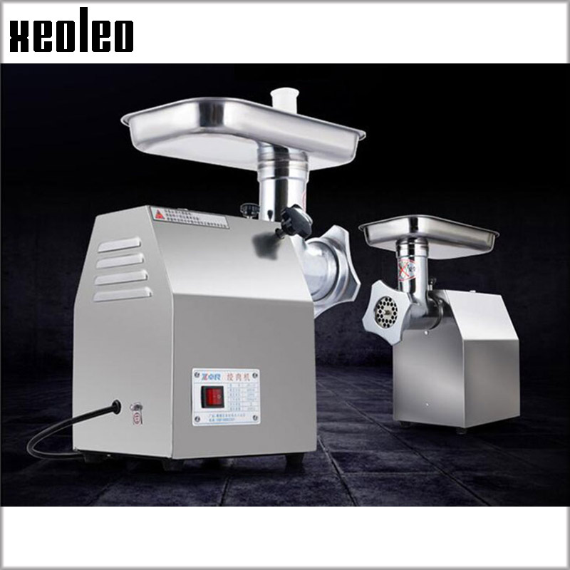 Xeoleo 22# Electric Meat grinder Commercial Stainless steel/Iron Mincer Sausage filler function 1100W Enema machine 250kg/h cg55gh cg22dm electric meat grinder rotary cheese grater machine stainless steel meat mincer sausage stuffer filler commercial