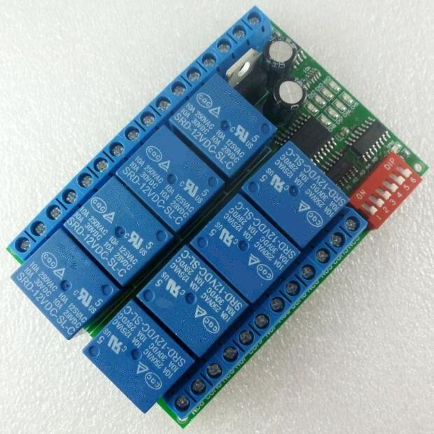 12V 8-channel RS485 relay Modbus RTU protocol Serial remote control switch PLC control board 2017 new arrival free shipping 8 ch modbus rtu rs485 network expansion board rs485 modbus rtu mode