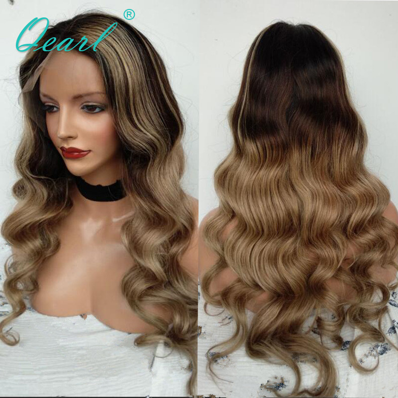 Peruvian Remy Hair Lace Front wigs Loose Wave Human Hair Ombre Colored Color Human Hair Pre
