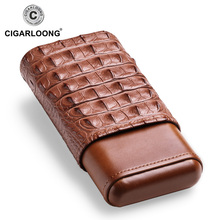 2019New arrival  travel leather cigar case portable humidor box 3holdsCF-0412