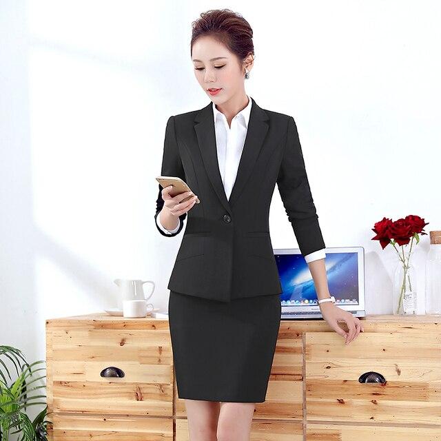High Quality Women Blazer Long Sleeve Polyester Coats Feminine Office Clothes Elegant Temperament Solid Formal Blazer For Women 4