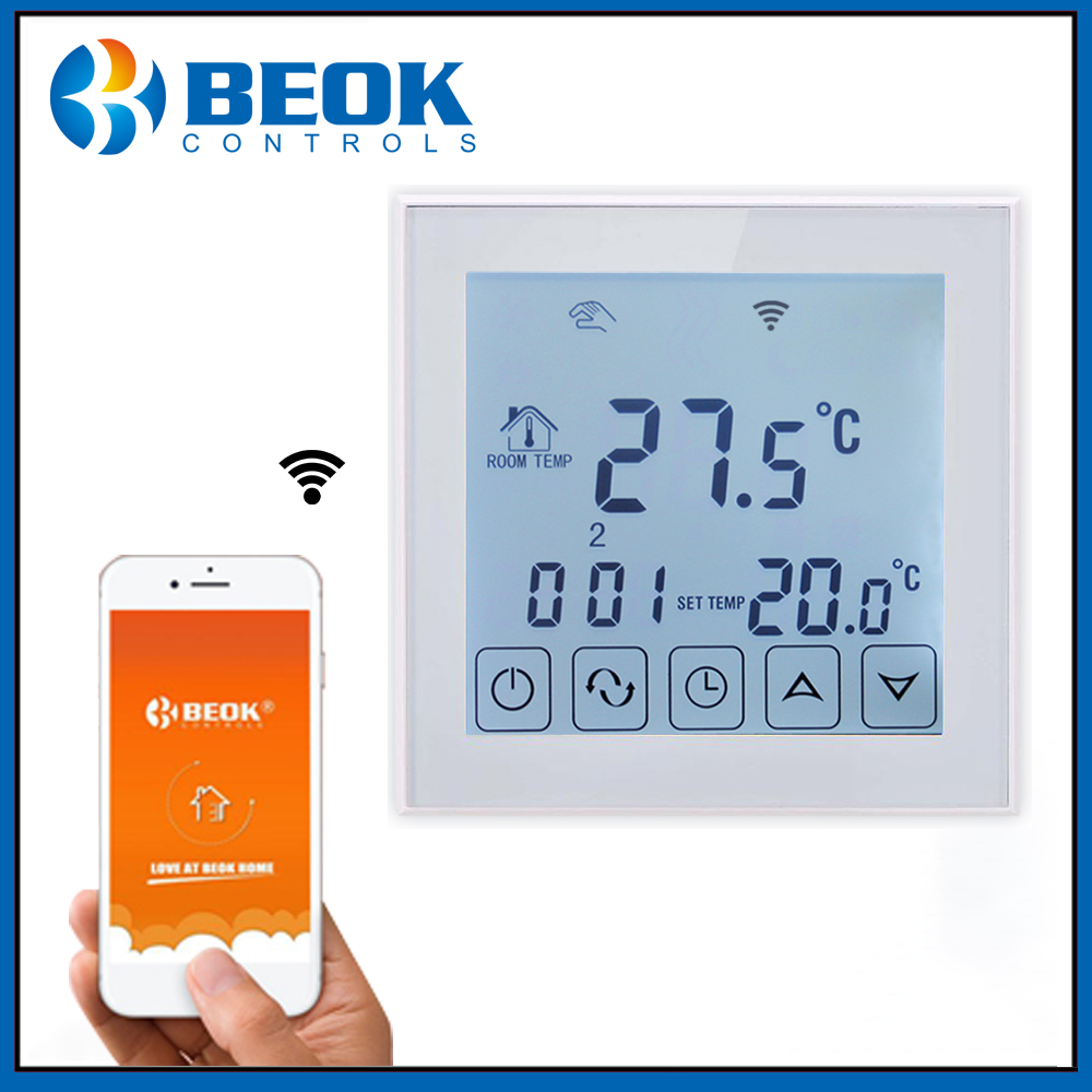 Beok Smart WIFI Floor Thermostat for Electric Heating Element Smart Home TDS23WIFIEP Room Thermostat Google Alexa Voice Control
