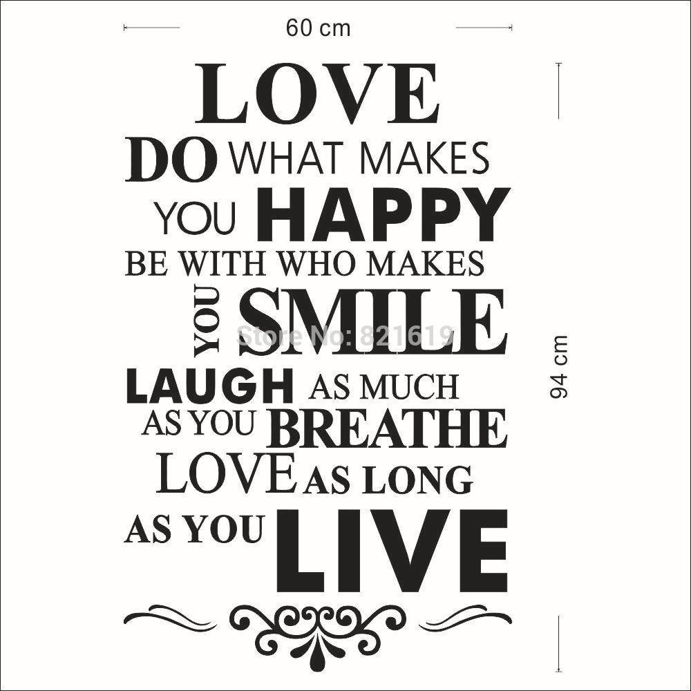 liebe-lächeln-hausordnung-wand-sticker-quote-sprüche-wohnkultur-abnehmbar-diy-kunst-aufkleber-tapete-versandkostenfrei