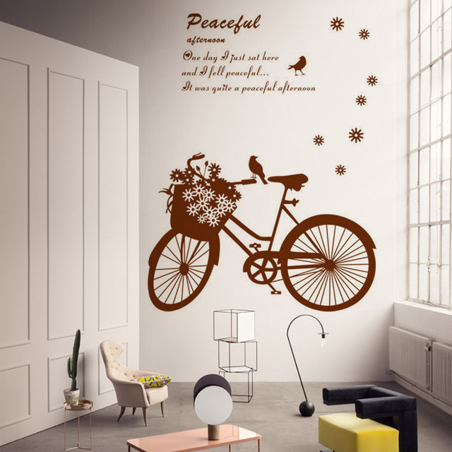 Pvc Bike Decor Wall Stickers Bicycle Decal Sticker Home Art Mural Poster Removable