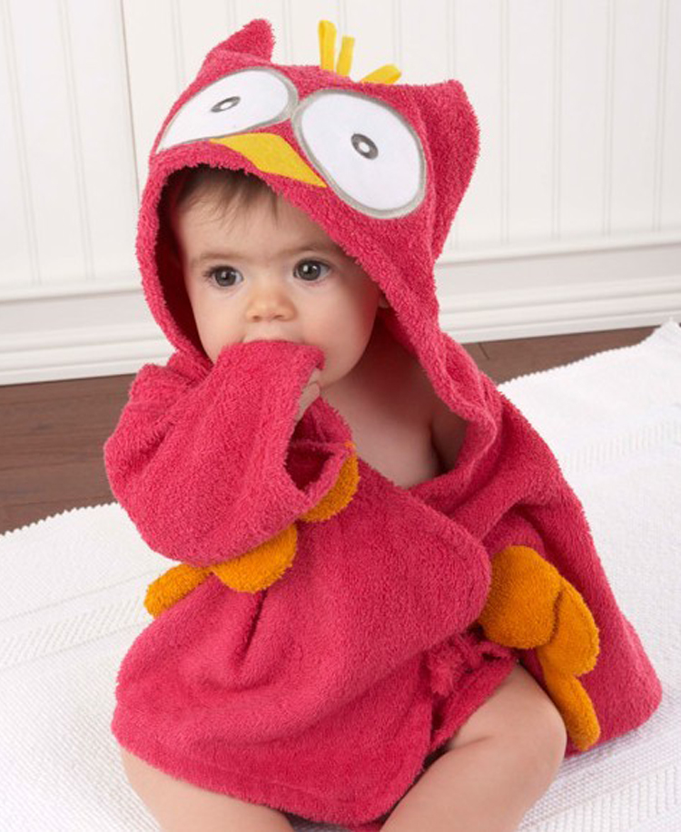 3813b20d26 Colorful Baby Kid Child Bath Towel Bathrobes Hooded Cute Owl Shark Hippo  Shape Blue Crocodile-in Towels from Mother   Kids on Aliexpress.com
