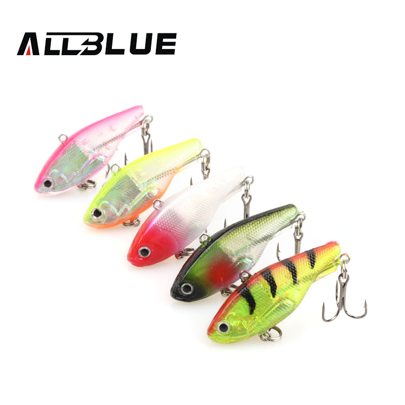 ALLBLUE Soft Swim Lure Artificail Bait Fishing Lure 12g/45mm Lake Fishing Tackle Shad Softbait Lead Vibration 5 Colors Available mix color package on soft lure 15 cm shad bait soft bait for boat fishing