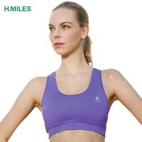 HMILES 2017 Women Sports Bra Quick Dry Seamless Yoga Padded Running Bras Gym Fitness Underwear SEXY