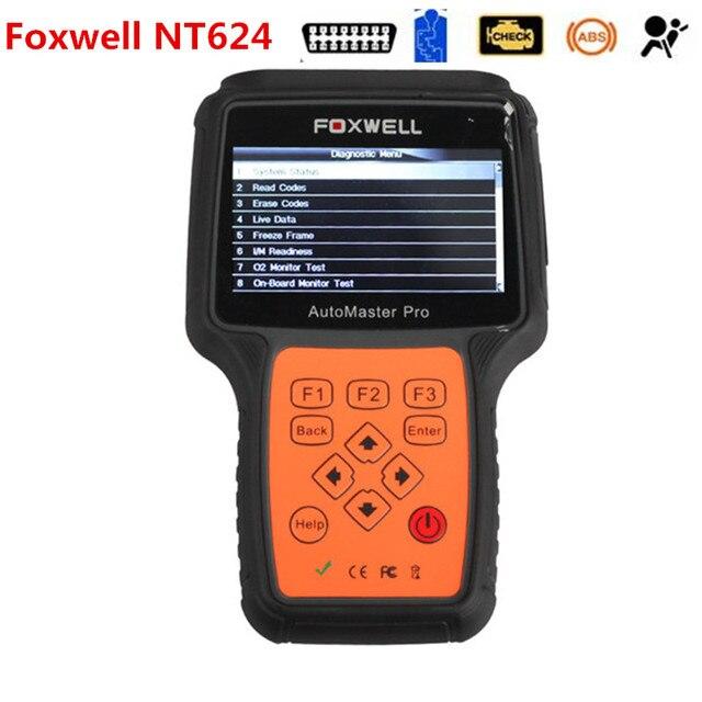 Универсальный Автомобиль Диагностический Инструмент Foxwell NT624 Автомастер Pro Все Делает Все Системы Двигателя Передачи ABS Подушка Безопасности DHL Доставка