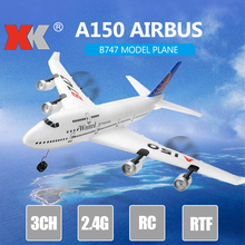 WLtoys Xk A150 Airbus B747 Model Plane Rc Fixed-wing Epp 2.4g 3ch Remote Control Airplane Rtf Toy Gift For Kids недорго, оригинальная цена