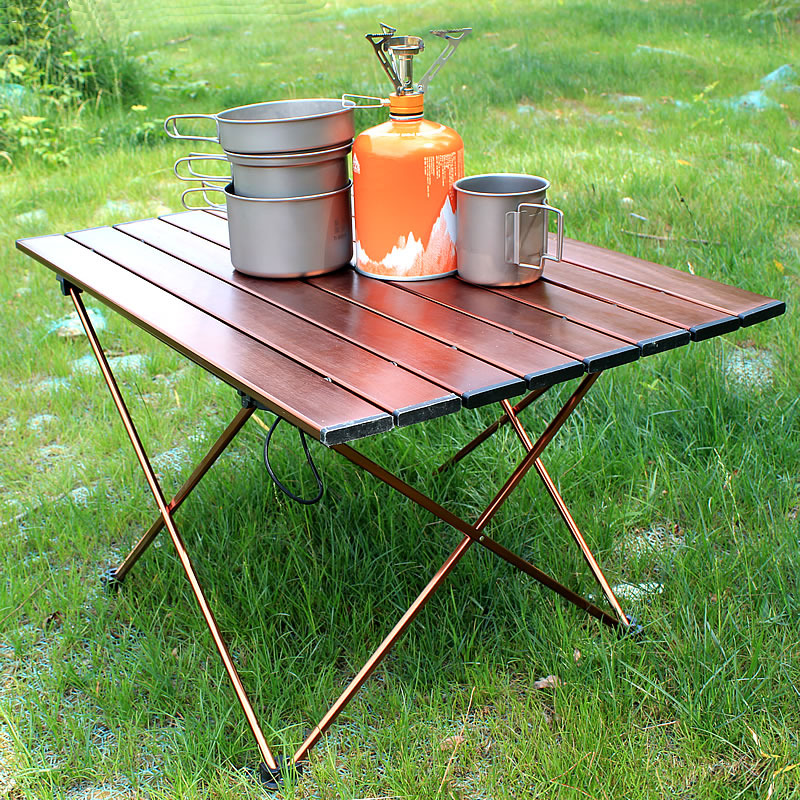 Ultralight Aluminum Table Outdoor Folding  Table Stool Set For Dining Picnic Camping BBQ Camping Table