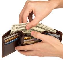 J.M.D RFID Card Case For Mens Genuine Leather Credit Holder Wallet Security Bifold R-8106Q