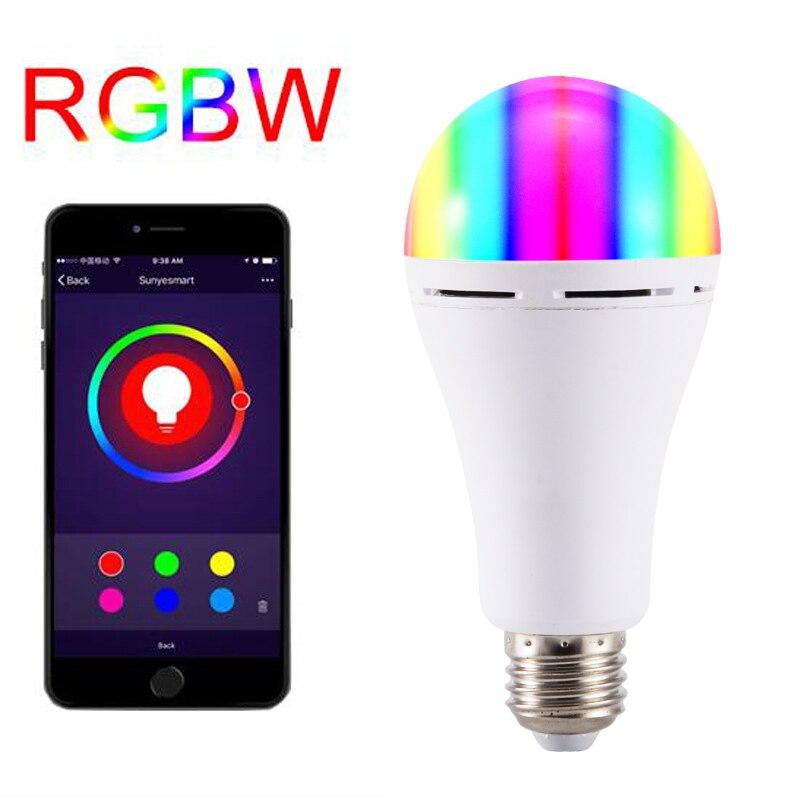 E27/B22 Smart WIFI Bulb RGBW LED Light Bulb Works with Alexa Google Home 16 Million Colors ALI88