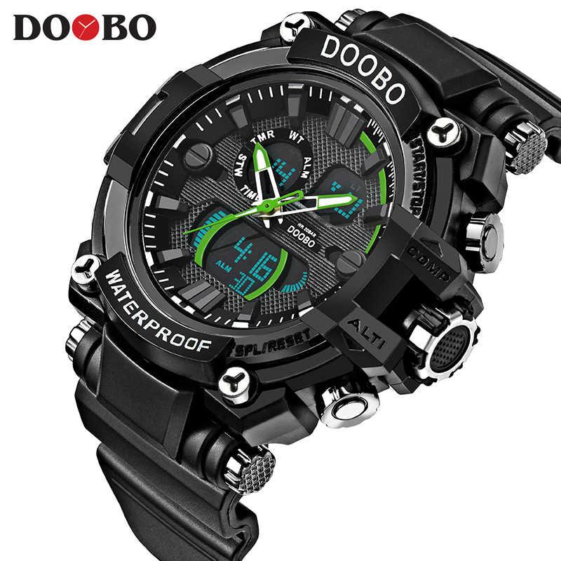DOOBO Новые S Shock мужские спортивные часы с большим циферблатом кварцевые цифровые часы для мужчин люксовый бренд LED военные водонепроницаемые мужские наручные часы