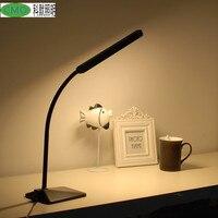 CMO LED Desk Lamp 48 LG LEDs Flexible Gooseneck Table Lamp Eye Care Touch Sensitive 8W