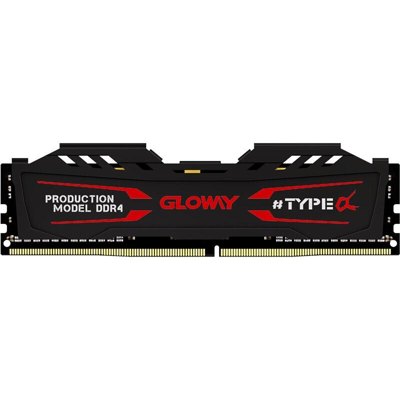 Nova chegada TIPO uma série preto e branco dissipador ram ddr4 Gloway 8gb 2400MHZ para desktop com alta desempenho