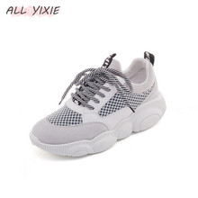 AII YIXIE2019 Spring and Summer New Fashion Women's Shoes Thick Soles Shoes Mesh Small White Shoes Casual Sports Shoes Women mycolen 2018 spring autumn sports shoes korean leather women s new small white shoes new fashion cowhide shoes women casual