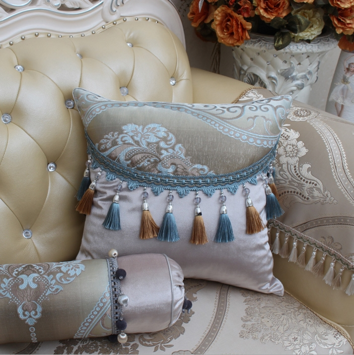 Luxury Jacquard Pillowcase Tel Lace Embroidered Aristocratic Pillow Case Family Hotel Wedding In From Home Garden On
