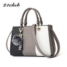 21club Brand Women Hairball Ornaments Totes Sequined Handbag Party Purse Ladies Messenger Crossbody Shoulder Bags Women Handbags - DISCOUNT ITEM  20% OFF All Category