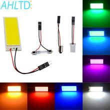 Promotion T10 36 SMD COB White/Red/Yellow/Blue LED Panel Super Car Auto Interior Reading Map Lamp Bulb Light Dome Festoon DC 12V car led dc12v big promotion t10 24 smd cob led panel super white car auto interior reading map lamp bulb light car light source
