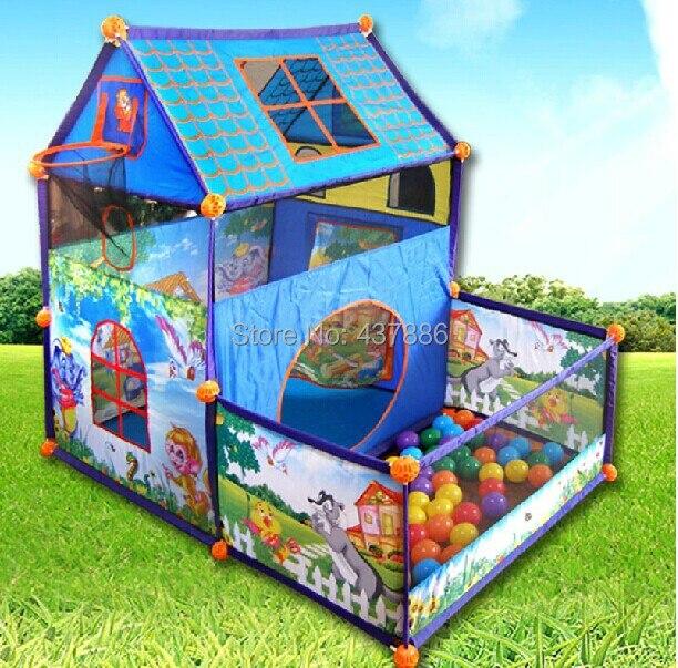 4a887bb5a757a Enfant Soleil Villa surdimensionné princesse intérieur grand océan piscine  à balles bébé jouet jeu maison tente