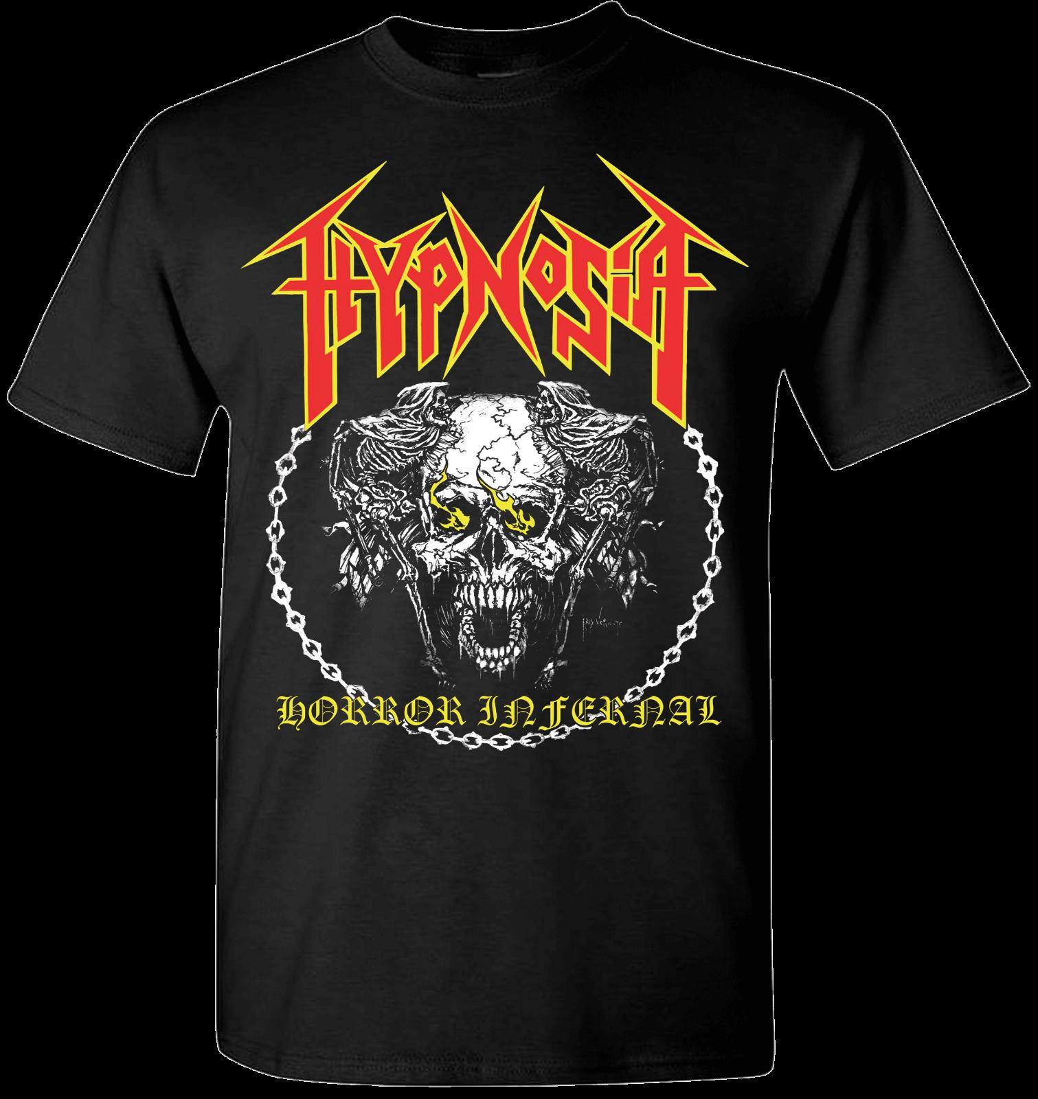 hypnosia horror infernal t shirt black metal death emperor blasphemy sarcofago Short Sleeve Summer Style Novelty O-Neck Tops