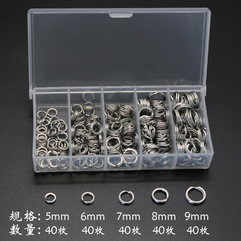 200pcs/lot Stainless Steel Double Split Rings Strengthen Solid Ring Lure Connecting Ring Fishing Accessories Tackle 8 fishing pliers aluminum saltwater split ring stainless steel terminal tackle