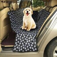 T-MENG Produtos Para Animais Tampas de Assento Do Carro Mat para Cães Pata padrão Oxford À Prova D' Água Banco Traseiro Assento Portadores Do Cão Acessórios de Viagem