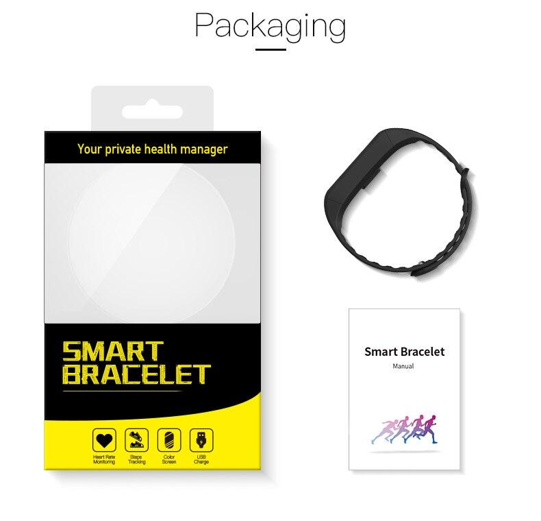 Smart bracelet blood pressure heartrate W6S (21)