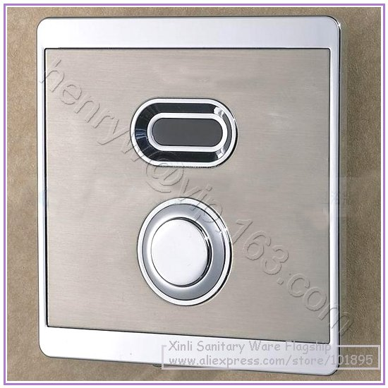 X7740 - Luxury Wall Mounted Brass Material Sensor & Manual 2 Function of Toilet Automatic Flush Valve