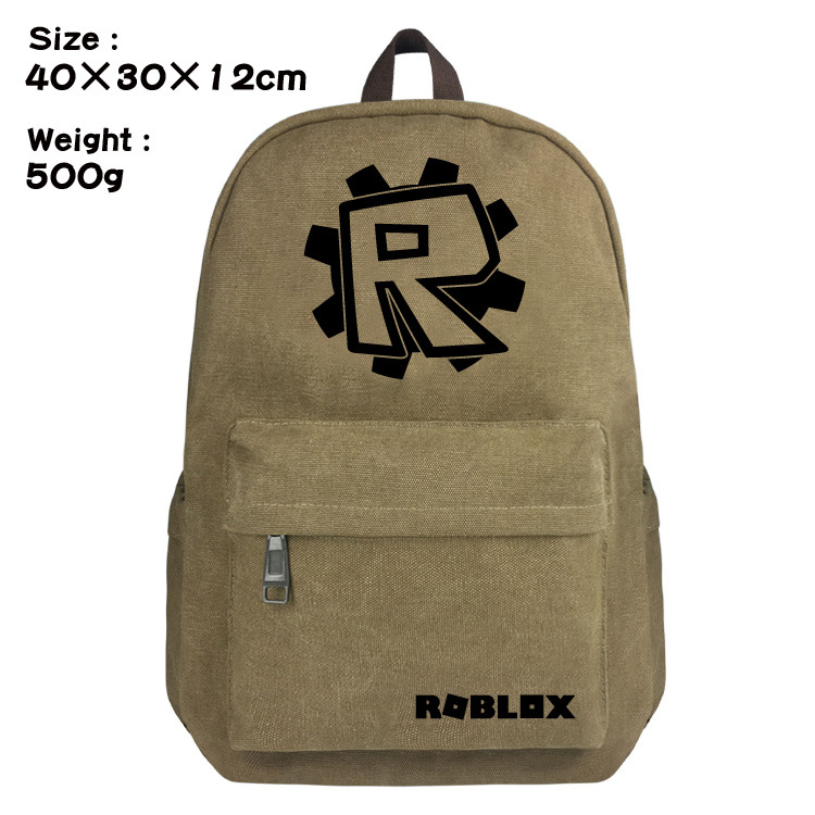 2018 Hot Game Roblox School Bag Backpacks Book Laptop Rucksacks Childrens Back to School Gift Bag Action Figure Toys Kids Gift
