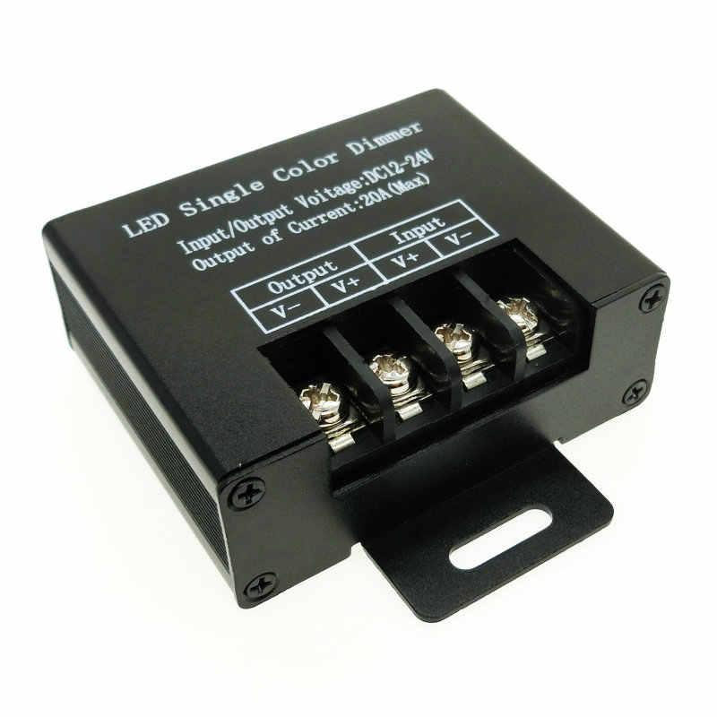 Светодиодный Одноцветный диммер DC12V-24V 20A 3 ключа RF для одноцветного контроллера светодиодной ленты.