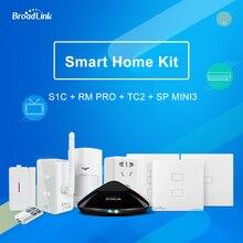 Оригинальный Broadlink Умный дом Комплект RM Pro пульт дистанционного управления TC2 выключатель света S1C комплект безопасности SP Mini3 разъем для Умный дом
