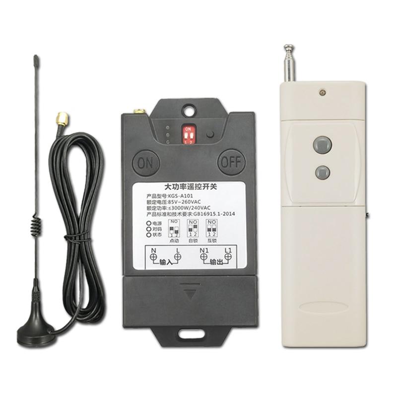 Longue distance 3000 M 220 V moteur de pompe sans fil télécommande commutateur monocanal haute puissance à travers la paroi télécommande