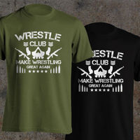 Wrestle Club Pro Make Wrestling Great Again Bone Soldier Fighter T Shirt Men 100 Cotton Casual