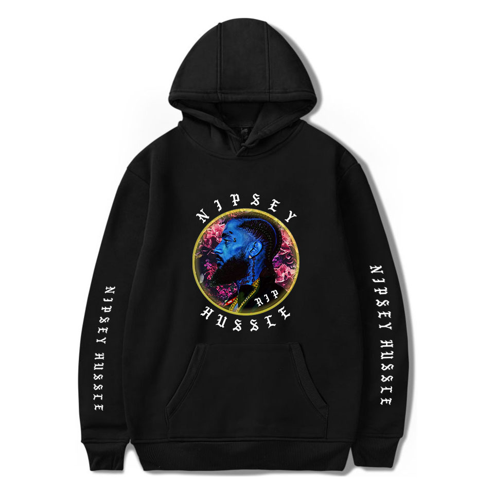 Rapper Nipsey Hussle European And American Fashion Commemorative Shirt With Velvet Hooded Vests