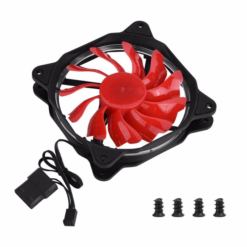 120mm  57 CFM LED Light PC Case Fans Cooling Cooler Fan Motherboard 3Pin+Large 4Pin personal computer graphics cards fan cooler replacements fit for pc graphics cards cooling fan 12v 0 1a graphic fan