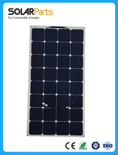 1X100W flexible solar panel for solar powered fishing backside connection for 12V solar panel module for roof /RV pleasure boats