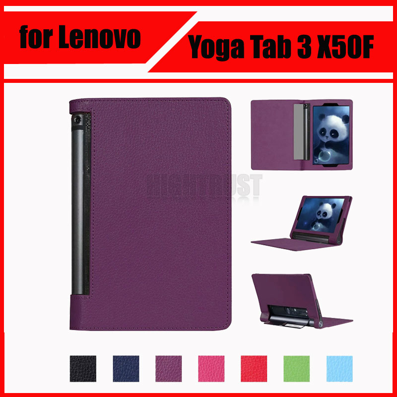 3 in 1 Luxury Litchi Pattern PU Leather Case Cover for Lenovo Yoga Tab 3 10 X50L X50F YT3-X50F 10.1 + Screen Protector + Stylus 3 in 1 new ultra thin smart pu leather case cover for 2015 lenovo yoga tab 3 850f 8 0 tablet pc stylus screen film