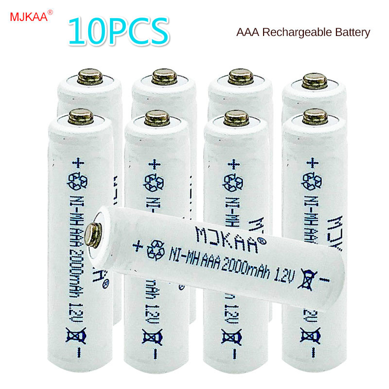 10pCS AAA 7# Rechargeable Battery 2000mAh Ni-MH for remote control toy