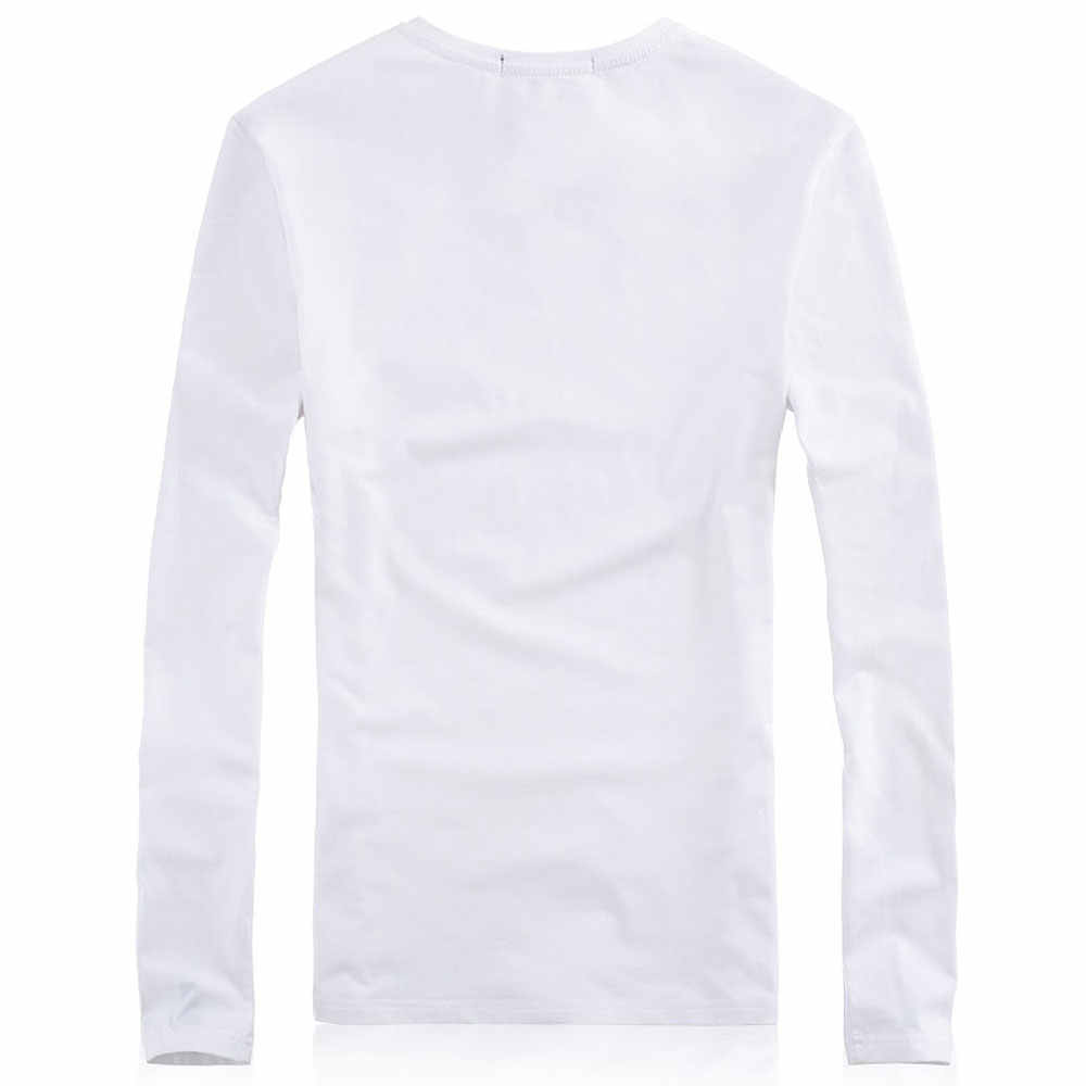 0fab9fecb6f17 ... Plus Size Summer Style Solid V Neck T Shirt Men 5XL Cotton Long Sleeve  Camisa Masculina ...