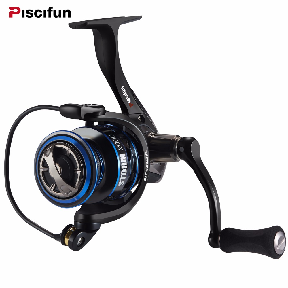 Piscifun 6.2:1 High Gear Ratio 2000,3000,4000,5000 Series 11BBs Spinning Fishing Reel Max Drag 10KG Fishing Spinning Reel casual metal and flat heel design short boots for women
