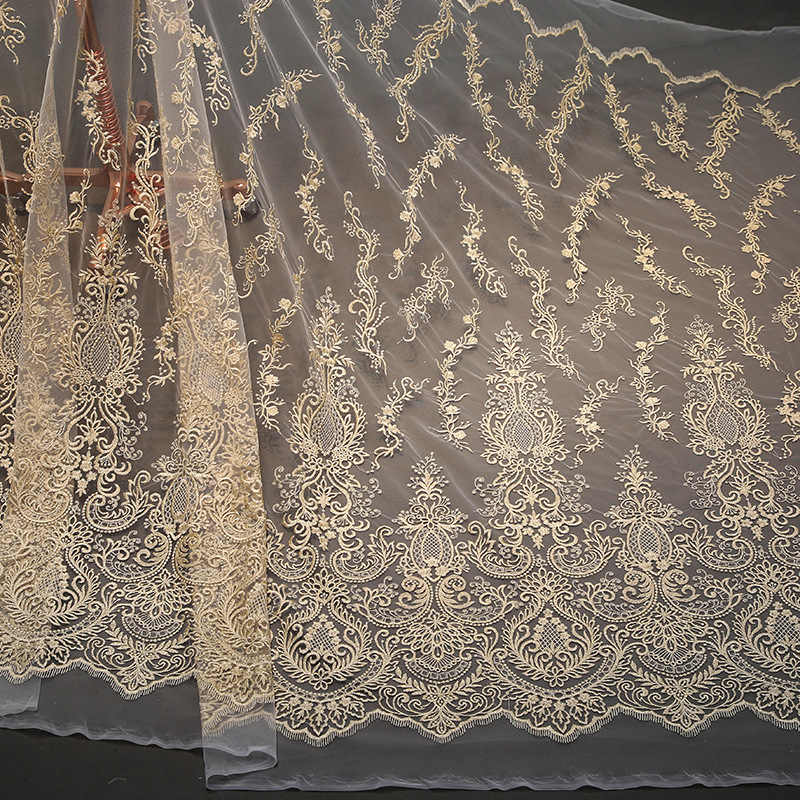 9c7ef61354 Lace fabric factory direct selling wholsale 2019 new national embroidery  gold lace fabric
