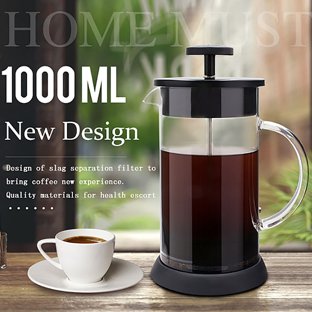 Coffee Pot Glass 1000ml French Press Coffee Maker Cafetera Goteo Coffee Plunger Percolator Coffee Filter