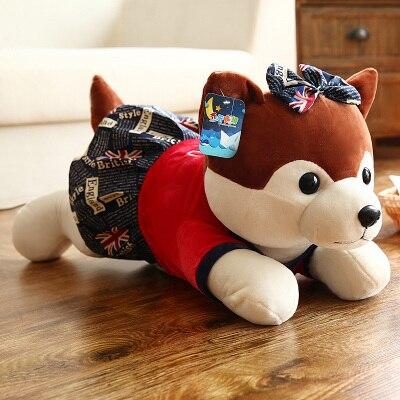 high quality prone female husky dog plush toy about 35cm dress skirt dog plush toy soft throw pillow birthday gift b0407 stuffed animal prone dog plush toy about 85 cm soft doll throw pillow t7790