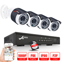 ANRAN P2P 1080P Full HD 4CH POE NVR 36 IR Day Night Outdoor Waterproof FTP Security