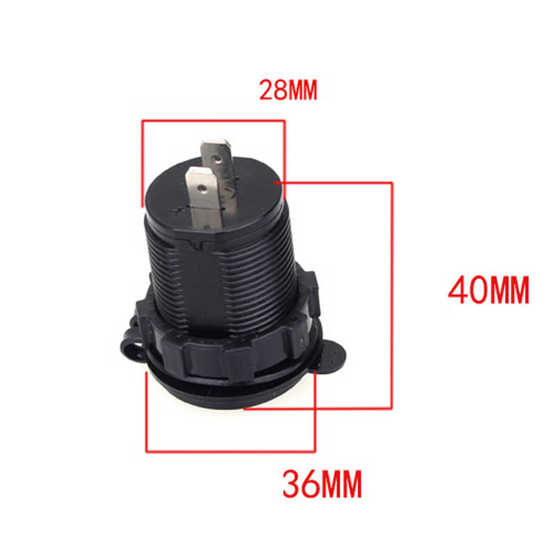 12-24V USB Cigarette Lighter Charger for Motorcycle Auto Truck ATV Boat LED Car 4.2A Dual USB Charger Power Adapter Outlet Power