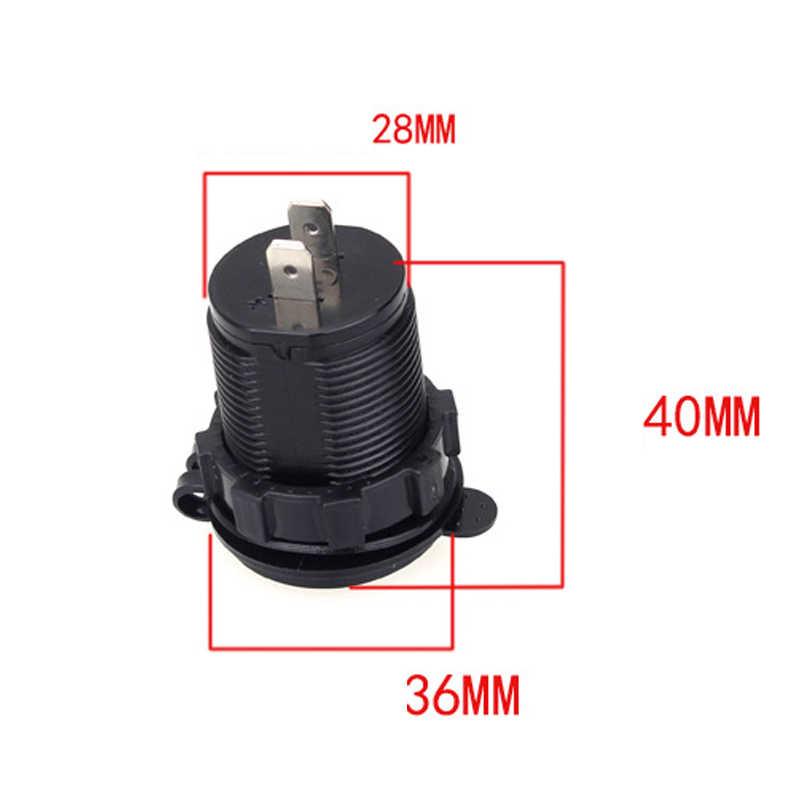 Cargador de encendedor de cigarrillos USB de 12-24 V para motocicleta Auto camión ATV barco LED coche 4.2A cargador USB Dual corriente de salida del adaptador de corriente
