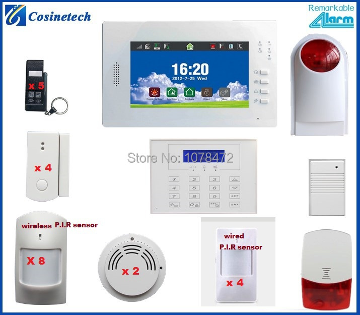 Customized Fsk 868mhz Office Shop Security Alarm System