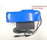 12V20Ah 18650 lithium Battery pack 12.6V20000mAh Capacity of the miner100W 800W high Power Batteries + 12V3A battery charger